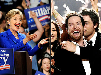  photo | David Cook, Hillary Rodham Clinton