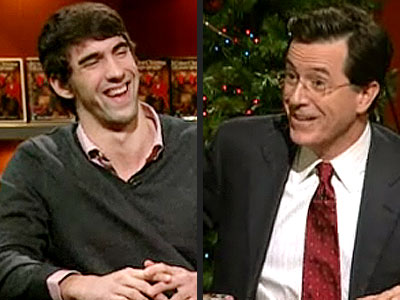 photo | Michael Phelps, Stephen Colbert