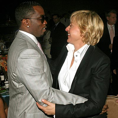 photo | Ellen DeGeneres, Sean \P. Diddy\ Combs