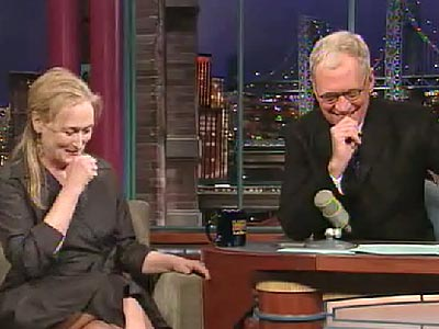 photo | David Letterman, Meryl Streep