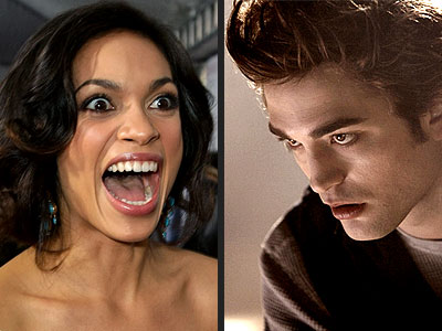 photo | Robert Pattinson, Rosario Dawson