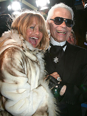 LIGHTS, CAMERA ... SMILE! photo | Goldie Hawn, Karl Lagerfeld