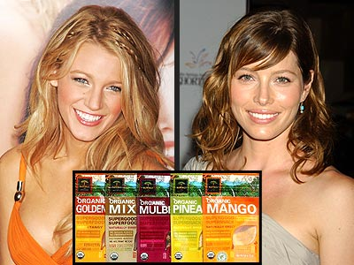 SNACK ORGANIC photo | Blake Lively, Jessica Biel