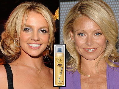 GET A (SUN-FREE) GLOW photo | Britney Spears, Kelly Ripa