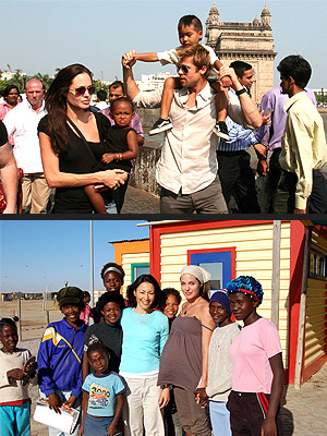 THEIR CHARITABLE LIFE photo | Angelina Jolie, Brad Pitt