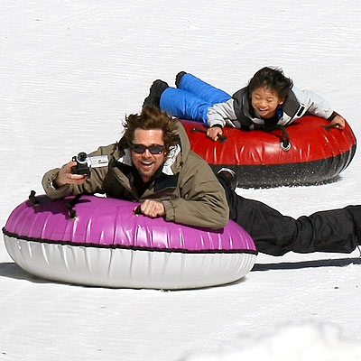 SLIP & SLIDE photo | Brad Pitt, Pax Thien Jolie-Pitt