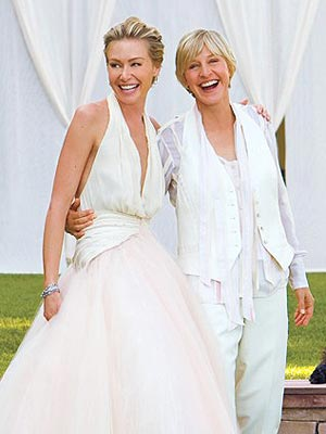 Ellen and Portia Di Rossi