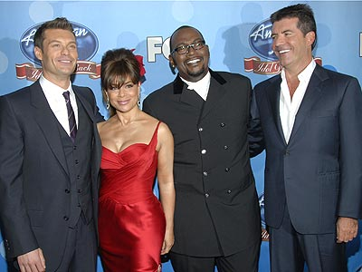 JUDGMENT DAY  photo | Paula Abdul, Randy Jackson, Ryan Seacrest, Simon Cowell