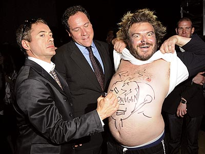 &#39;IRON&#39; STOMACH photo | Jack Black, Jon Favreau, Robert Downey Jr.