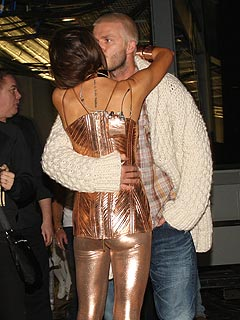 Spice Girls Pics: Posh & Becks' Backstage Kiss | David Beckham, Victoria Beckham