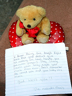 Heath Mourners Leave Stuffed Toy for Matilda