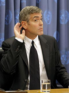 George Clooney to U.N.: Can You Hear Me Now?