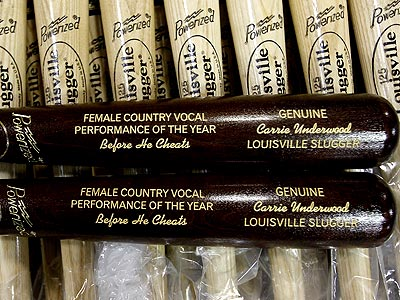 Carrie Underwood Gets Her Own 'Before He Cheats' Baseball Bat   Carrie Underwood