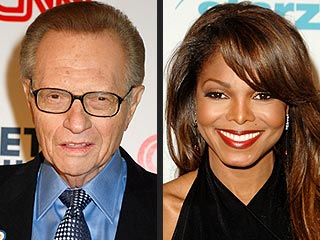 Larry King and Janet Jackson