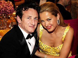 Sean Penn Steps Out with Petra Nemcova at Oscar Parties