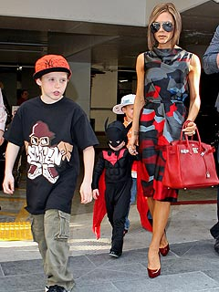 Victoria Beckham Acts Strict on Her Sons' Manners