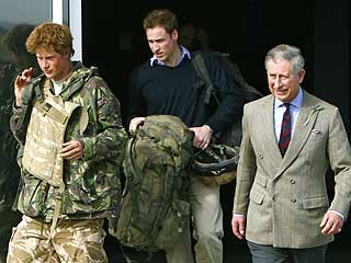 Prince Harry Returns to England from War Zone| Prince Charles, Prince Harry, Prince William
