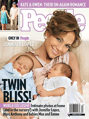 WORLD EXCLUSIVE: See Jennifer Lopez's Twins! - Babies, Jennifer Lopez : People.com :  magazine people twins see