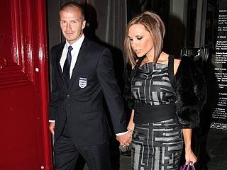 David Beckham Celebrates with Posh in Paris