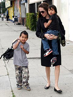 Angelina Jolie Takes Her Boys for a Day at the Museum