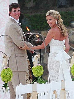 Eli Manning & Abby McGrew Wed on the Beach