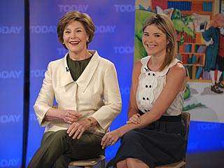 Laura Bush: George Built Limestone Altar for Jenna's Wedding