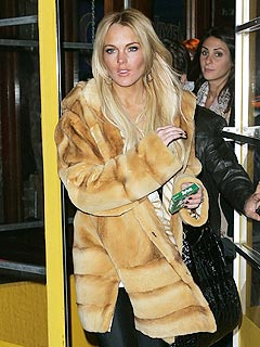 Fur Shame! Is Lindsay Lohan a Coat Thief?