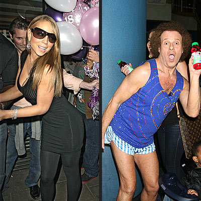 Mariah vs. Richard Simmons: It's a Pose-Off!