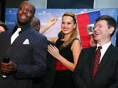 Wyclef Jean Launches Partnership to Help Haiti | Petra Nemcova, Wyclef Jean