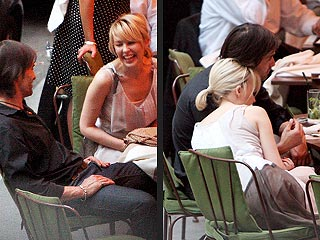 Kylie Minogue & Olivier Martinez&#39;s Touchy-Feely Lunch