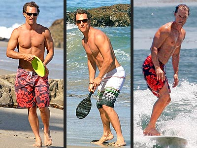 POLL: Matt McConaughey Gets Busy at the Beach