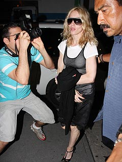 Madonna and Family Attend Sabbath Services