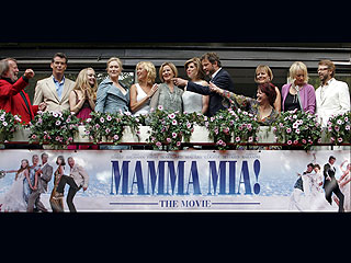 ABBA Reunites for Mamma Mia! | Abba, Agnetha Faltskog, Amanda Seyfried, Anni-Frid Lyngstad, Benny Andersson, Bjorn Ulvaeus, Christine Baranski, Meryl Streep, Pierce Brosnan