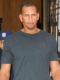 A-Rod Visits with His Daughters