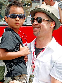 Brad Pitt Hits Las Vegas with His Boys