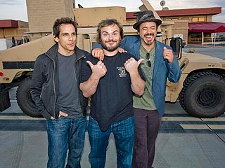 Ben Stiller, Jack Black & Robert Downey Jr. Bring Tropic Thunder to Camp Pendleton