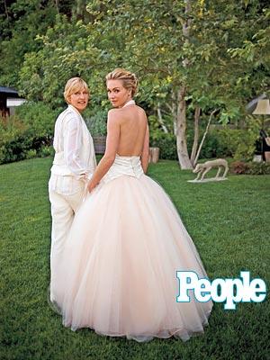 FIRST LOOK: Ellen & Portia's Wedding Album| Celebrity Weddings, Ellen DeGeneres, Portia de Rossi