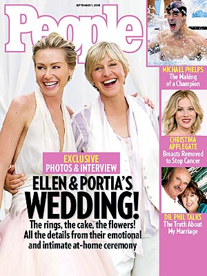 Ellen & Portia's Wedding Album | Ellen DeGeneres, Portia de Rossi