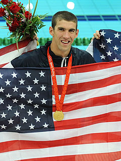Phelps Wins Eighth Gold, Breaks Spitz's Record | Michael Phelps