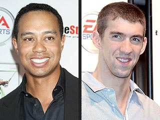 Sports Stars Collide: Michael Phelps Meets Tiger!