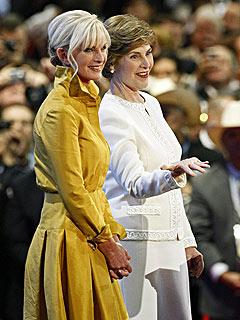 Laura Bush and Cindy McCain Raise Money for Gustav Victims | Laura Bush