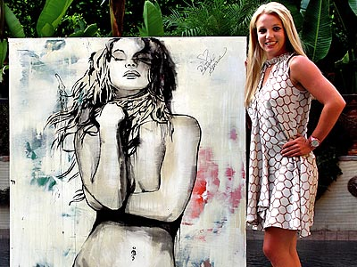 Britney Spears Donates Painting for Charity