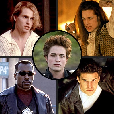 Clockwise from top left: Tom Cruise, Brad PItt, David Boreanaz,