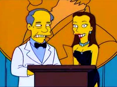 Which Emmy-nominated star appeared on The Simpsons as a Nobel Peace Prize presenter? | Jennifer Garner