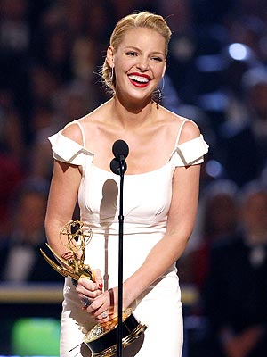 How did Emmy winner Katherine Heigl get her start in the entertainment business? | Katherine Heigl