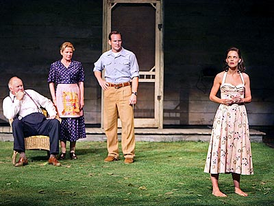 Who joined Katie's husband Tom Cruise in the audience during her Broadway debut in All My Sons? | Katie Holmes