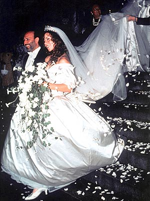 ... Mariah's wedding train when...