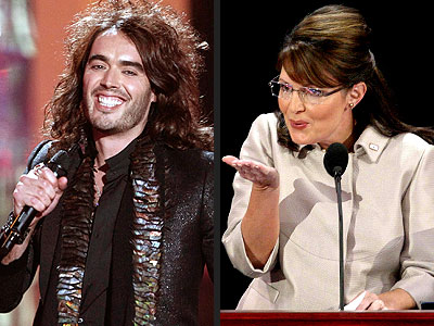  photo | Russell Brand, Sarah Palin