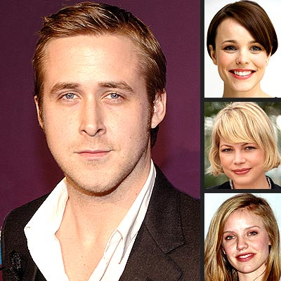 RYAN GOSLING photo | Michelle Williams, Rachel McAdams, Ryan Gosling