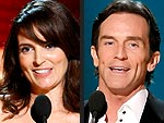 Tina Fey and Jeff Probst Win Emmy Awards | Jeff Probst, Tina Fey
